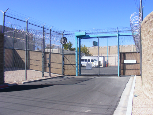 Entrance Gate C of Las Vegas Inmate Detention Center