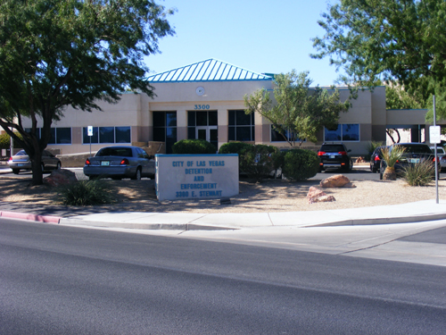Front view of City of Las Vegas Inmate Detention and Enforcement Center