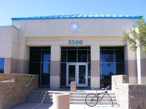 Front Door of City of Las Vegas Inmate Detention and Enforcement Center